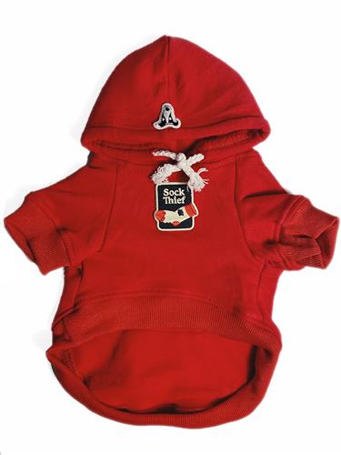 Hoodie with Sock Thief Patch