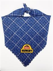 Blue Bandana with Always Hungry Patch