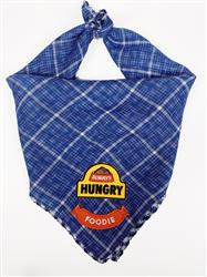 Blue Bandana with Always Hungry & Foodie Patches