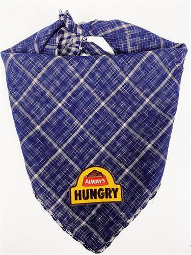 Navy Bandana with Always Hungry Patch