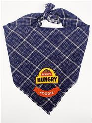 Navy Bandana with Always Hungry & Foodie Patches