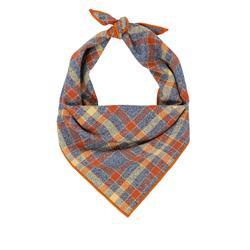Flannel Dog Bandana, Plaid Bandana, Fall Bandana, High Quality Fabric, Rust, Grey