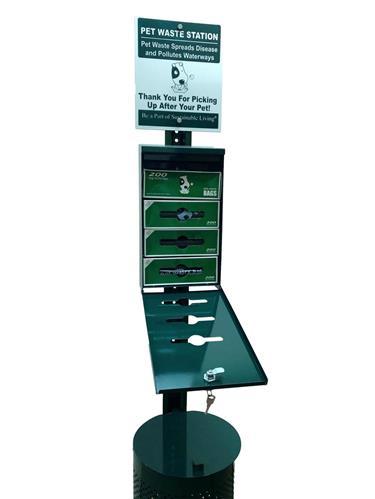 Natural Pet Partners® Commercial Dog Station Kit Bulk Roll Waste Bags Dispenser