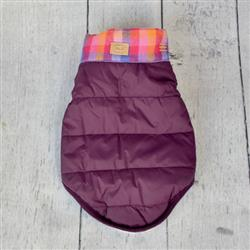Lupine Plum Bandana Puffer Jacket