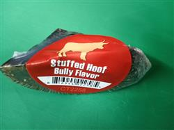 Chopped Bully Stick  Stuffed Cow Hoof Shrink With UPC and STICKER FROM BRAZIL