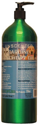33 oz UNSCENTED Sardine-Anchovy Oil, Pharmaceutical Grade