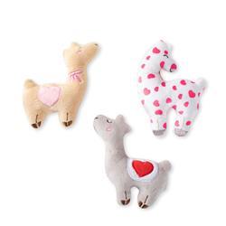 Love Llamas Small Plush Dog Toys Set Of 3