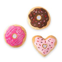 Donut You Know I Love You Small Plush Dog Toys Set Of 3