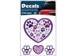 Heart with Paw Prints - Decal Sheet
