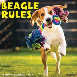 Beagle Rules 2021 Wall Calendar