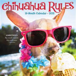 Chihuahua Rules 2021 Wall Calendar