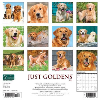 Goldens 2021 Wall Calendar