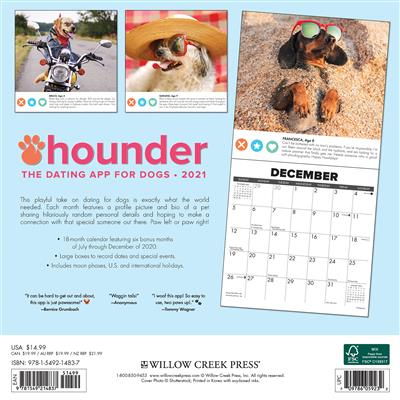 Hounder 2021 Wall Calendar