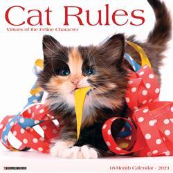 Cat Rules 2021 Wall Calendar