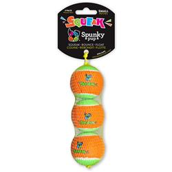 Squeaky Tennis Balls by Spunky Pup