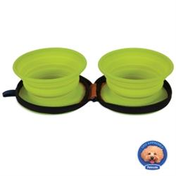 Petmate® Silicone Duo Travel Bowl