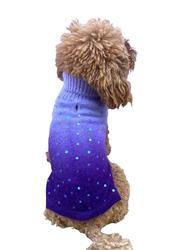Luxury Beverly Hills Dip Dye Sweater in Purple (w/ sequins)