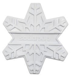 SodaPup Nylon Snowflake Shaped Ultra Durable Dog Chew Toy for Aggressive Chewers, Guaranteed Tough, Non-Toxic, Reduces Boredom and Problem Chewing, Made in USA, White