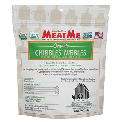 Organic Chibbles — Chicken Nibbles for Dogs & Cats, 4 oz. Bag