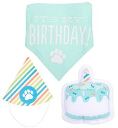 Pet Birthday Pawty Kit, Party Kit Includes Dog toy, Party Hat, and Bandana