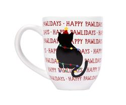 Happy Pawlidays Cat Coffee Mug