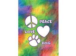 Garden Flag- Peace Love Dog - NEW
