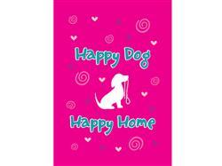 Garden Flag- Happy Dog Happy Home - NEW