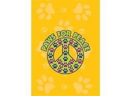 Garden Flag- Paws for Peace - NEW
