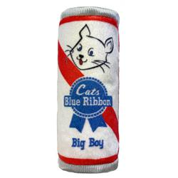 Cats Blue Ribbon Plush Cat Toy by Kittybelles