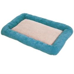 SnooZZy® Chenille Low Bumper Kennel Mat Teal