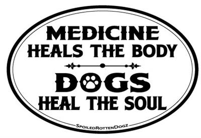 Dogs Heal the Soul Magnets
