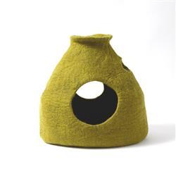 Wool Pet Cave, Purr-a-Boo, Green