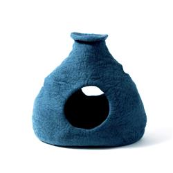 Wool Pet Cave, Purr-a-Boo, Teal