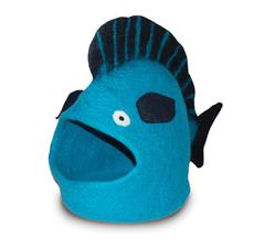 Wool Pet Cave, Fish, Turquoise