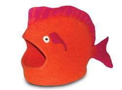 Wool Pet Cave, Fish, Orange
