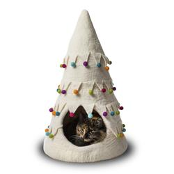 Wool Pet Cave, Holiday Tree, White