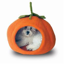 Wool Pet Cave, Pumpkin, Orange