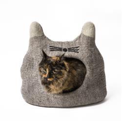 Wool Pet Cave, Cat Head, Natural