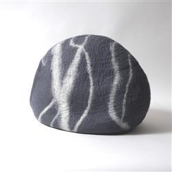 Wool Pet Cave, River Stone, Slate Grey