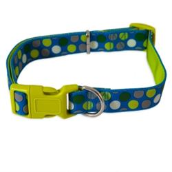 Petmate® Dots Blue Max Glow® Adjustable Dog Collar