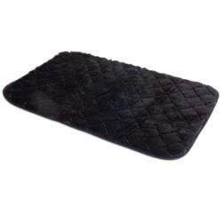SnooZZy® Quilted Kennel Mat Black, Cream, Brown