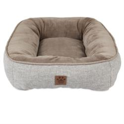 SnooZZy® Rustic Low Bumper Pet Beds  Buff, Teal, Brown