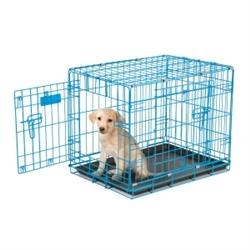 Petmate® 2 -Door Wire Puppy Crate  Blue or Pink