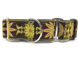 Venice Olive Extra Wide Martingale Dog Collar