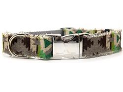 Durango Dog Collar Silver Metal Buckles