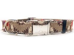 Cody Dog Collar Silver Metal Buckles