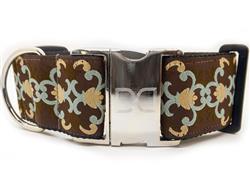 Dutchess  Extra Wide Dog Collar & Sable Velvet Leash