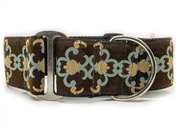 Dutchess Extra Wide Martingale Dog Collar & Sable Velvet Leash