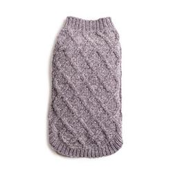 Grey Chenille Mockneck Sweater