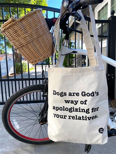 Canvas Bag - Apologizing for your relatives...